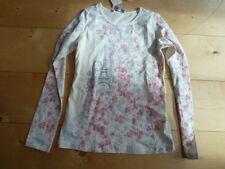- Pampolina chic Life manga larga camisa Ecru con flores, talla 140-152