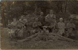Early 1900s German WW1 Era Soldiers Unit Black/White RPPC Photo Postcard