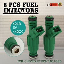 Set (8) 42lb Green Fuel Injectors for GM Ford TBI LT1 LS1 LS6 V8 440cc EV1