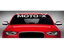 "40"" Moto-X MX Car Decal Sticker Windshield Banner ATV Quad Dirtbike Motocross"