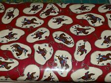 ROUND UP Moda 1 Yard FABRIC Quilting COWBOY Cowgirl WESTERN