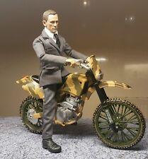 1/6 SCALA 007 James Bond Skyfall Daniel Craig Personalizzato 12 pollici figura con una bici
