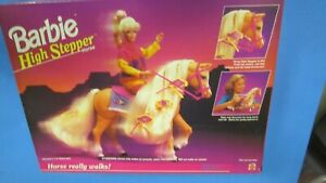 Mattel Barbie High Stepper Horse 1994 really walks sealed NRFB with accessories