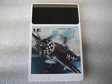 NEC PC Engine Used P-47 TurboGrafx Hu card Good Condition Japan Import  Shooter