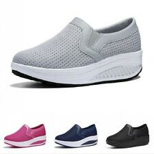 Lady Athletic Sneakers Hidden Heel Sport Shoes Mesh Breathable Comfy Trainers B
