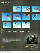 PUBLICITE ADVERTISING 076  2010  Sony appareil photo A 55 snoboard