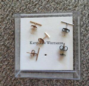 Kathleen Whitaker 14k Gold and Sterling Stud Bundle