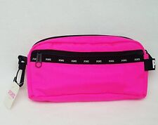 NEW Victoria's Secret Pink HOT PINK Mini Pouch Pencil Case Holder School Makeup