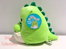 """Squishmallows Mom and Baby Danny the Dinosaur 8"""" Plush Brand New"""
