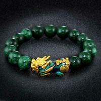 Feng Shui Pixiu Jade Wealth Protection Bracelet Good Bracelets Lucky Jewelr F4Z1