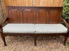 More details for vintage panelled oak settle four seater