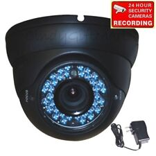 """Dome Security Camera Outdoor Night Vision 1/4"""" CCD 36 IR LED 4-9mm Lens CCTV 1ZH"""
