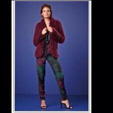Next taille 10 shaggy veste yeti veste toucher doux berry rouge vin en fourrure synthétique neuf