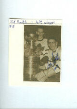 SID SMITH SIGNED/AUTOGRAPHED ALBUM PAGE CUT D.2004 TORONTO MAPLE LEAFS 1946-58