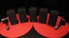 LOT OF 5 BOSE DOUBLE CUBE SPEAKERS LIFESTYLE / ACOUSTIMASS - SOUND FANTASTIC !!!