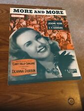 Vintage Sheet Music - More and More 1944 Cant Help singing, Kern/Harburg