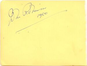 John Robinson signed autograph book page 1950 English actor Quatermass The Saint