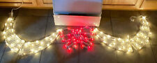 6 Ft Swag Red Bow Sculpture Lights Christmas Outdoor Yard Display Decoration 72""