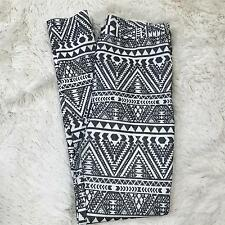 Topshop Womens Leggings Size 6 Black White Stretch Side Zip Printed EUR 38 27