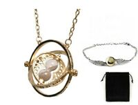 Parure Harry Potter Collier retourneur de temps + bracelet vif d'or argenté