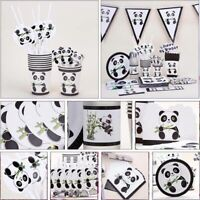 Panda Birthday Party Decoration Tableware Napkins Bag Banner Hats Cup New