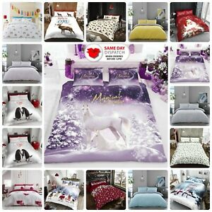KING SIZE DUVET COVER SET Grey Bedding Sets Ultra Soft & Warm Quilt Covers SALE