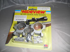 WIDEVIEW BRAND SCOPE MOUNT HI RINGS & BASES FOR  MARLIN  XT22 SILVER FINISH