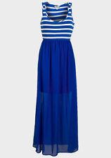Scoop Neck Dresses Stripes Maxi Dresses