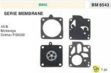 SERIE MEMBRANE membrana CARBURATORE MOTOSEGA BING 49 B DOLMAR PS 9000