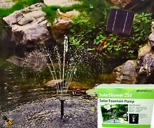 Solar Pump Fountain with Battery Backup LED Lights Pond Water Feature 250ltr