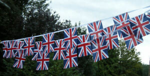 Fabric Bunting Union Jack 11 metres 40 Flags *** Special Offer *** Free Postage