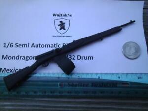 LH07  1/6 WWI Homemade Mondragon M1908 Rifle w/ 32 Round Drum Mag Mexico Germany