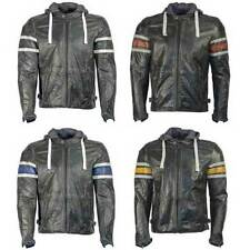 Richa Men Leather Motorcycle Jackets with CE Approved Armour