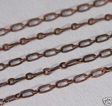 10ft of Antiqued Copper Long and Short chain 4X2mm