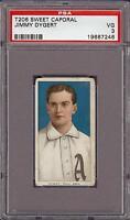 1909-11 T206 Jimmy Dygert Sweet Caporal 350 Phila PSA 3 VG