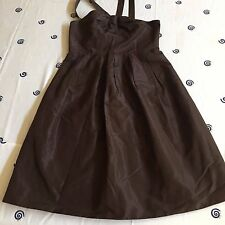 Rarely used Girl J.Crew Dress 100% Silk Brown Size 4