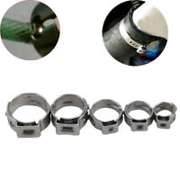 70 pcs High Quality Pipe Clamp Stainless Steel Single Ear Hose Clamps Kit Q