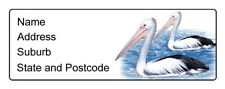 30 Personalised Quality Plus Adhesive Address Labels -  Pelicans