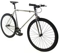 Golden Cycles Fixed Gear Single Speed Bike Bicycle Chrome - 41 45 48 52 55 59 CM