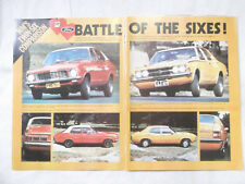LJ Holden Torana TC Ford Cortina Original Test Article Removed from a Magazine