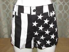 Juniors Women New Royal Bones Black & White Split Leg Stripes & Stars 13 L
