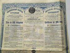 ancienne obligation du gouvernement  ottoman   1904