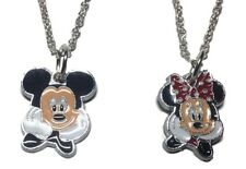 Mickey Mouse and Minnie Mouse Pendant Necklace Set of 2 Chain Necklaces
