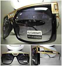 Men's or Women CLASSIC VINTAGE RETRO PARTY SUN GLASSES SHADES Black & Gold Frame