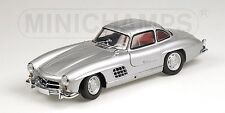 MINICHAMPS 1955 Mercedes Benz 300 SL W198 Silver w/Red interior 1:18*Super Rare!