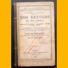 NOS DEVOIRS ET NOS DROITS droit usuel Économie politique Morale Cours moyen 1884