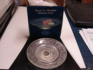 Crystal & Silverplate Pedestal Server Collectors Crystal Galleries by Fairfield