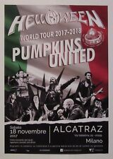 Helloween Milano concert poster Pumpkins united 2017 / Italy