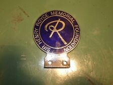 More details for rare henry rolls royce memorial car badge vintage automobilia collectable