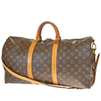 AUTH LOUIS VUITTON KEEPALL 50 BANDOULIERE 2WAY HAND BAG MONOGRAM M41416 75MF228